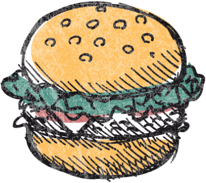 Illustration eines Burgers