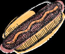 Illustration eines Hot-Dogs
