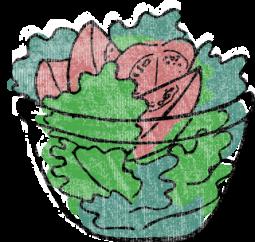 Illustration von Salat